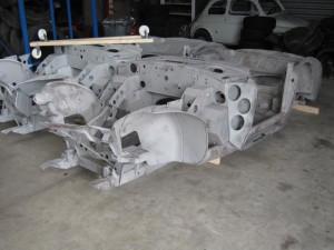 Sandblasted chassis