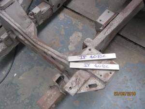 Support bracket wheel arch